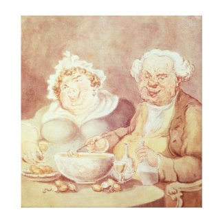 Gluttons, c.1800-05 canvas print