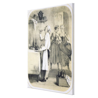 Gluttony in the Kitchen, from a series of prints d Canvas Print