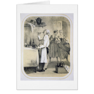 Gluttony in the Kitchen, from a series of prints d Card