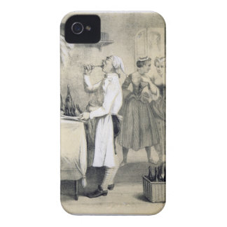 Gluttony in the Kitchen, from a series of prints d iPhone 4 Case-Mate Cases