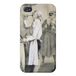 Gluttony in the Kitchen, from a series of prints d iPhone 4 Covers