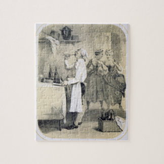 Gluttony in the Kitchen, from a series of prints d Jigsaw Puzzle
