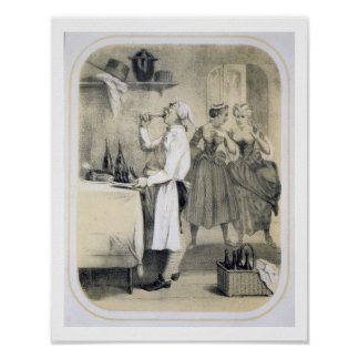 Gluttony in the Kitchen, from a series of prints d Poster
