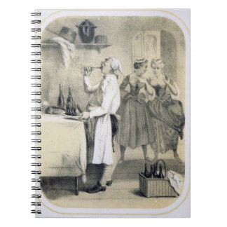 Gluttony in the Kitchen, from a series of prints d Spiral Note Book
