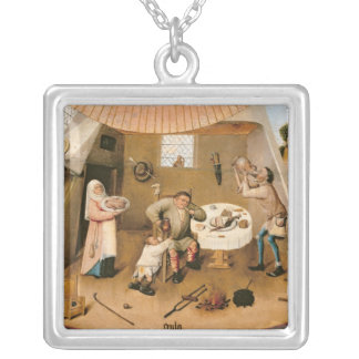 Gluttony Square Pendant Necklace