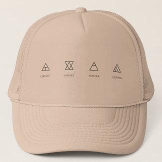 glyphs trucker hat