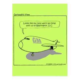 GM CEO Stepped Down Postcard