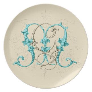 GM MG Monogram Plate