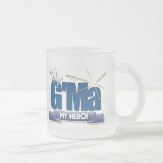 G'Ma My Hero! Great gifts for Grand Mothers! Frosted Glass Coffee Mug