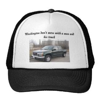 gmc_canyon, Washington don't mess with a man an... Trucker Hat
