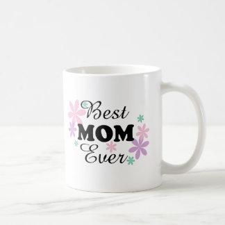 GMfl Best Mom Ever Black/Multi-Color On White Mug