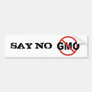 GMO BUMPER STICKER