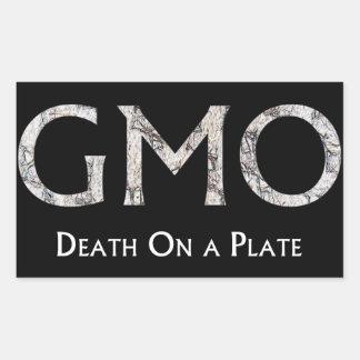 GMO - Döden på en tallrik Rectangular Sticker