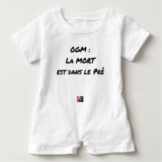 GMO? EAST DEATH IN the PRE one - Word games Baby Bodysuit