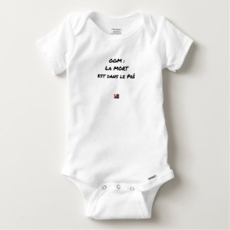 GMO? EAST DEATH IN the PRE one - Word games Baby Onesie
