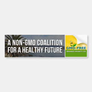 GMO-Free Orange County CA bumper sticker