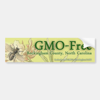 GMO-Free Rockingham County, NC Bumper Sticker