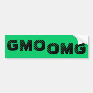 GMO OMG Bumper Sticker