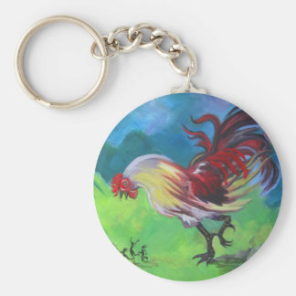 GMO Rooster Key Chain
