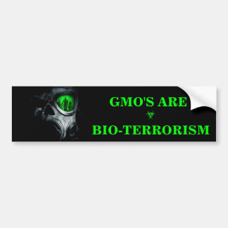 GMO'S ARE BIO-TERRORISM BUMPER STICKER