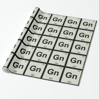 Gn - Gin Chemistry Periodic Table Symbol Wrapping Paper