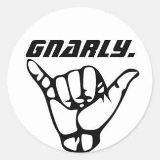 Gnarly sticker