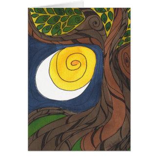 Gnarly Tree and Sun/Moon, Notecard