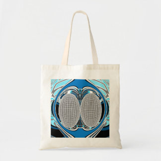 Gnarly white and blue superfly bag