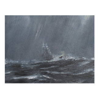 Gneisenau Storm in the North Sea 1940. 2006 Postcard