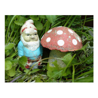 Gnome and Toadstool Postcard