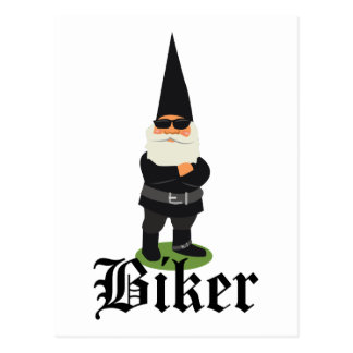 Gnome Biker Postcard