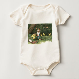 Gnome Elf Easter Colored Painted Egg Chick Baby Bodysuit