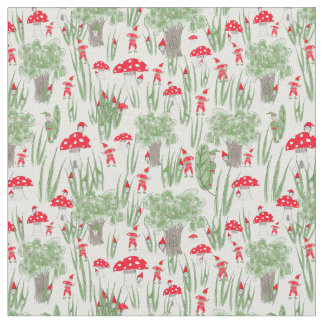 "Gnome Fabric: ""Gnome Hide-and-Seek"" Fabric"
