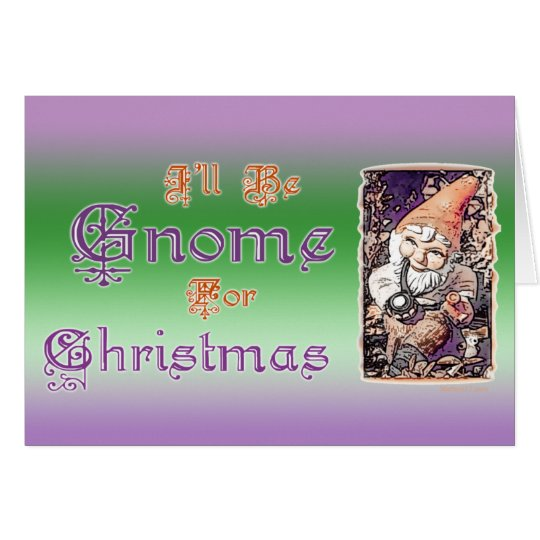 Gnome for Christmas Card