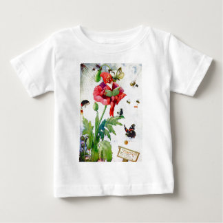 Gnome in a poppy flower tees