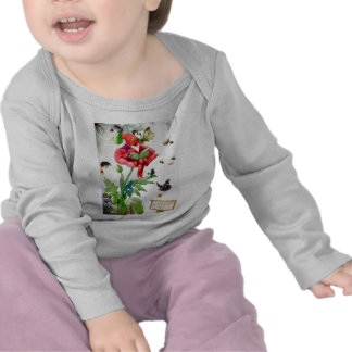 Gnome in a poppy flower tee shirts