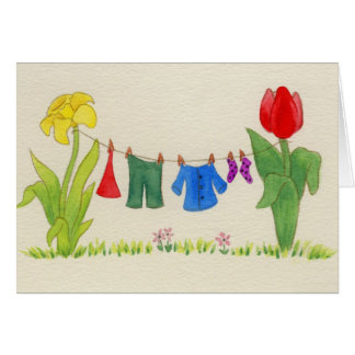 Gnome laundry line card