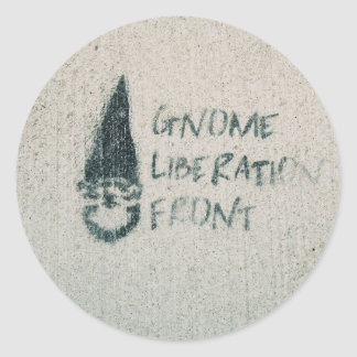 Gnome Liberation Front Classic Round Sticker