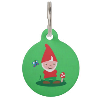 Gnome Place Like Home Pet ID Tag