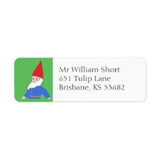 Gnome return address label