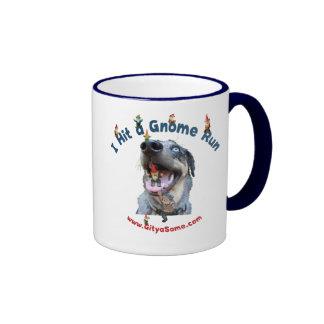 Gnome Run Home Run Dog Mug