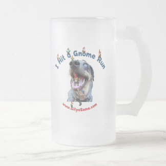 Gnome Run Home Run Dog Coffee Mugs