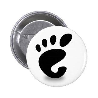 Gnome soon 6 cm round badge