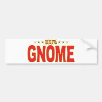 Gnome Star Tag Bumper Sticker