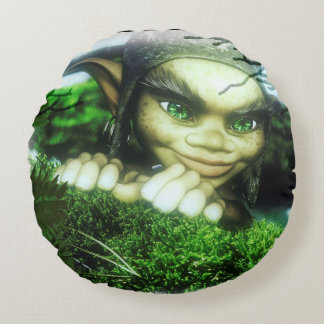 Gnome Sweet Gnome Round Cushion