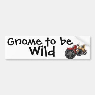 Gnome to be Wild Bumper Sticker
