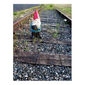 Gnome Tracks Postcard