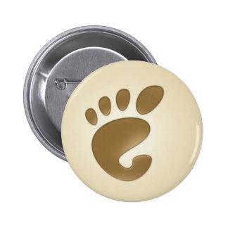 Gnome Ubuntu 6 Cm Round Badge