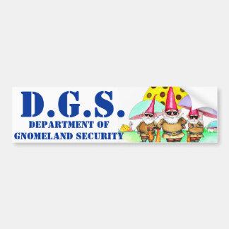 GNOMELAND SECURITY BUMPER STICKER
