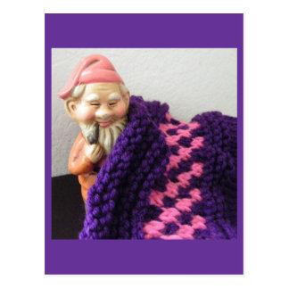 Gnomes Love Knitting Postcard